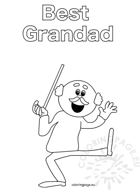 grandad printable picture coloring page