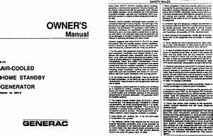 Generac 9067 0 User Manual Standby Generator Manuals And