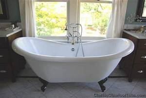 69quot Acrylic Double Ended Slipper Clawfoot Tub Classic