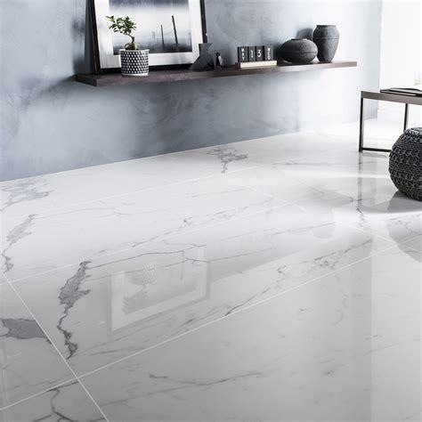 magasin deco cuisine carrelage sol et mur blanc effet marbre rimini l 60 x l