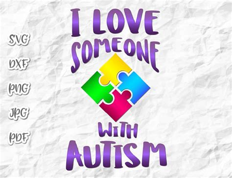 All about cricut svg file. I Love Someone with Autism SVG Files for Cricut Vector ...