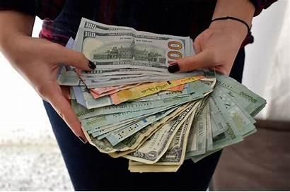 Money Bank Lebanon Cash Accounts Syrians Many