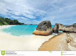 Tropical Desert Island Beach Royalty Free Stock ...