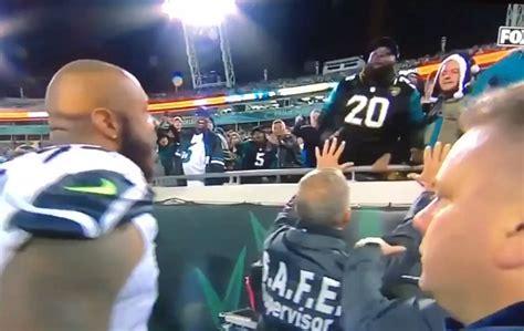 jaguars fans throw objects  quinton jefferson