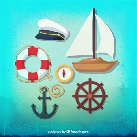 Sailing Boat Elements by Sailing Elements Vector Free Download