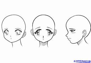 How to Draw Manga Girls, Step by Step, Anime Heads, Anime ...