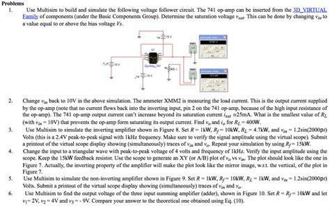 Use Multisim Build Simulate The Following