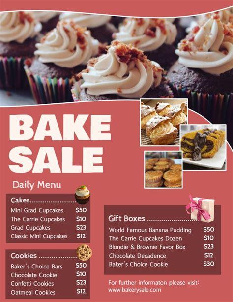 bakery  deli menu price list template terra cotta