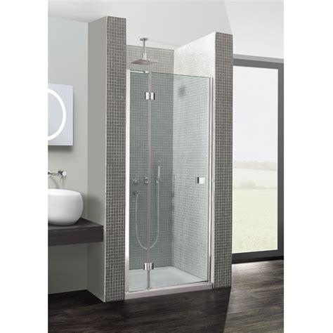 simpsons design hinged shower door  inline panel