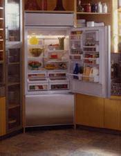 zicnarh ge monogram  built  bottom freezer refrigerator  icemaker monogram