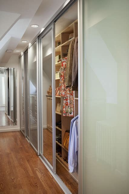 Glass Mirror Closet Doors by Sliding Closet Doors With Mirrored Glass Eclectic
