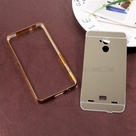 bumper mirror slide for s7 sliding plated metal bumper mirror like pc shell for zte
