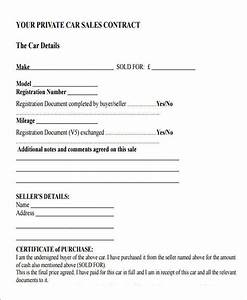 car selling contract template fiveoutsiderscom With contract template for selling a car