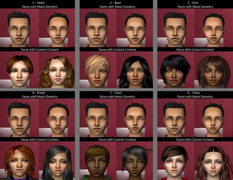The Sims 2 Face Replacement Templates by Mod The Sims Complete Set Of Cas Face Replacements 27