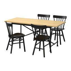 ryggestad karpalund norraryd table et 4 chaises pin