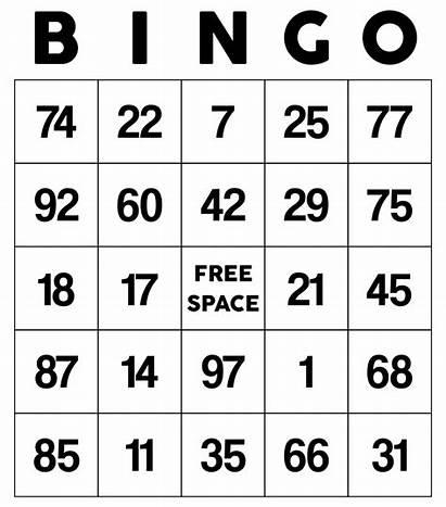 Bingo Cards Printable Numbers Classic Printablee Card