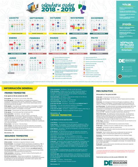 calendario escolar en puerto rico