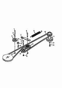 Belt Drive And Idlers  Hydro  Diagram  U0026 Parts List For