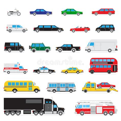 Simple Auto Icon Set Stock Vector. Image Of Ambulance