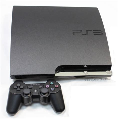 psp 4 console sony playstation 3 ps3 slimline slim 120gb charcoal
