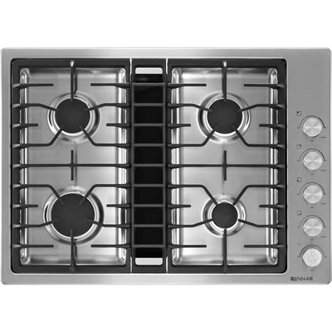 downdraft gas cooktop jgd3430bs jenn air 30 quot downdraft gas cooktop stainless