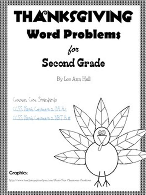 thanksgiving math word problems 2nd grade by tpt