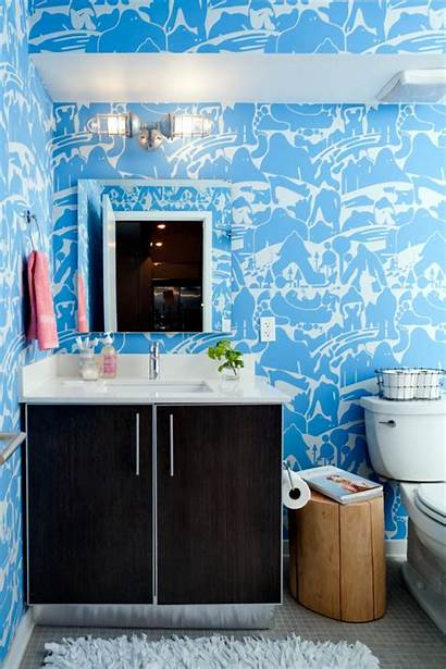 Bathroom Powder Hgtv Eclectic Spector Patterned Trends