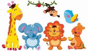 Aufkleber Für Kinder : wandtattoo xxl kinder zoo zimmer aufkleber 6 tiere sticker ~ Kayakingforconservation.com Haus und Dekorationen