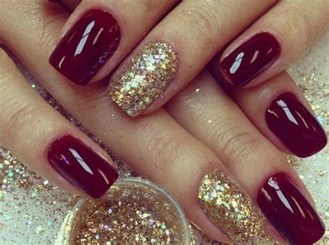 15 Superlative Maroon Nails Designs Pictures