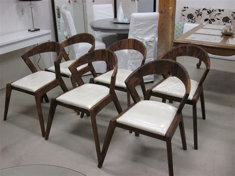 inspired mid century modern solid wood dining chairs