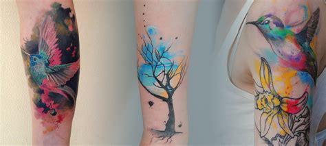 tatouage aquarelle femme