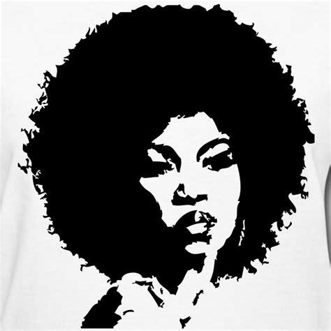 Choose from over a million free vectors, clipart graphics, vector art images, design templates, and illustrations created by artists worldwide! Awake in my Journey | Curly Afro-Black Silhouette - Womens ...