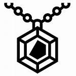 Gem Pendant Icon Svg Icons Transparent Lorc