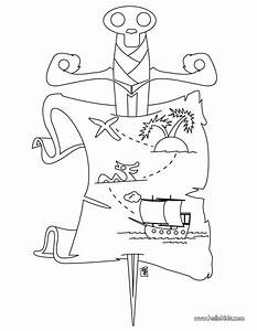 Pirate treasure map coloring pages - Hellokids.com