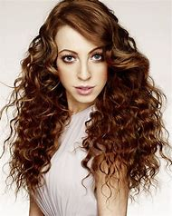 Curly Perms for Long Hair with Bangs