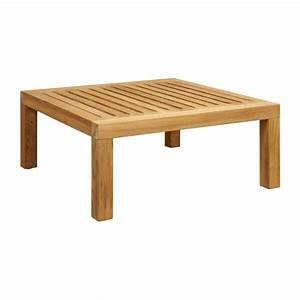 Table Carre Exterieur : tiek tables basses naturel bois m tal habitat ~ Teatrodelosmanantiales.com Idées de Décoration