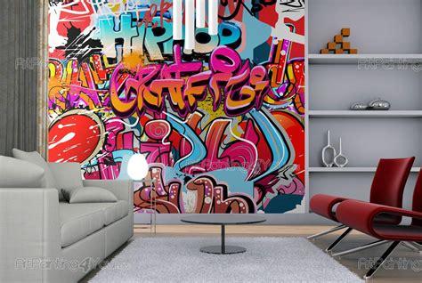 Tapisserie Tag Graffiti by Papier Peint Graffiti Musique Poster Impression Sur