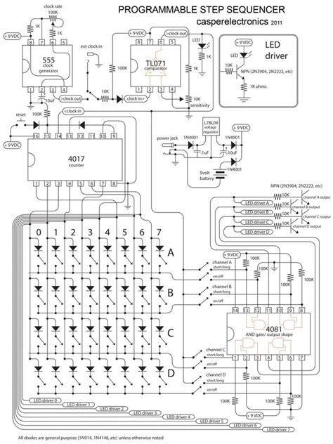 Programmable Step Sequencer Electronic Circuit Pinterest