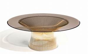 Platner Gold Plated Coffee Table 36quot Dia