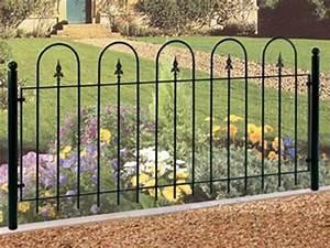 Modern Wrought Iron Garden Fence — Jbeedesigns Outdoor