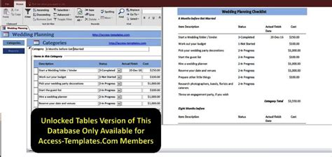 inventory tracking excel access database wedding planning checklist with timeline