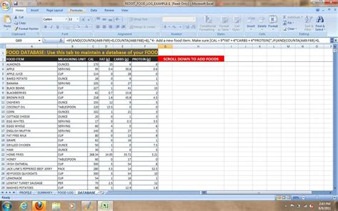 food calorie spreadsheet image gallery nutrition spreadsheet