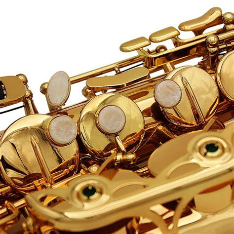 Lade Alto Eb Saxophone Or Sax Peinture Or Avec Etui Et