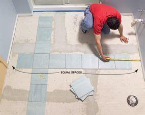 How To Lay Bathroom Tile by Install A Ceramic Tile Floor In The Bathroom Bath