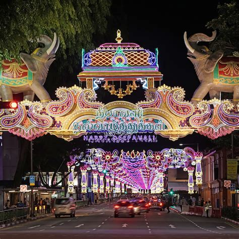 deepavali festival celebration  singapore visit