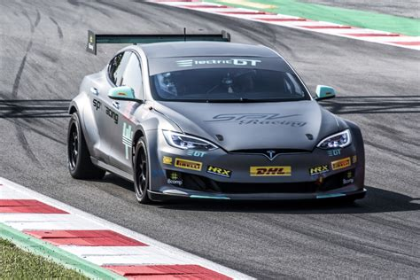 Tesla Racing Series by Race Ready Tesla P100dl Unveiled In Barcelona Race Tech
