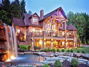 Biggest Luxury Log Mansions Log Cabin Mansions Related