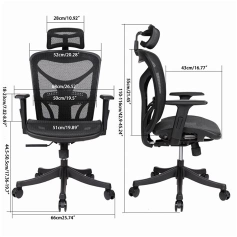 ancheer adjustable high mesh executive office chair