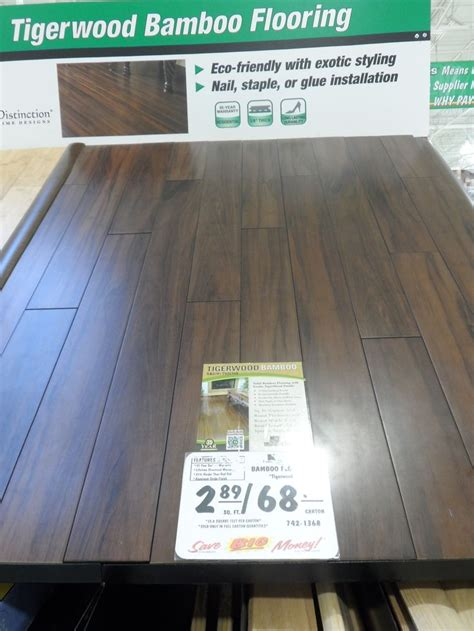 tigerwood bamboo flooring menards flooring pinterest