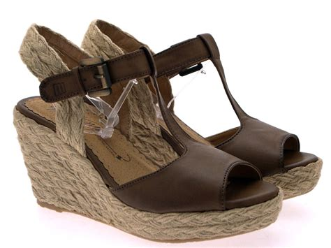 Womens Hessian Rope Wedge Platform Tbar Sandals Summer
